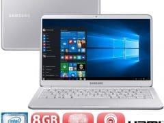 """O Notebook Samsung Style S51 NP900X3T-KW1BR possui processador Intel Core i7 (8550U - 8ª geração) de 1.8 GHz a 4 GHz e 8MB cache, 8GB de memória RAM (DDR4 - 2400 MHz), SSD 256GB (PCIe), Tela LED Full HD de 13,3"""" Touchscreen com resolução máxima de 1920 x 1080, Placa de Vídeo integrada Intel UHD Graphics 620, Conexões USB e HDMI, Wi-Fi 802.11 b/g/n/ac, Não possui Drive de DVD, Bateria de 6 células (75Wh), Peso aproximado de 995g e Sistema Operacional Windows 10 64 bits."""