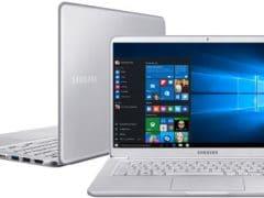 """O Notebook Samsung Style S51 Pro NP900X5T-XW1BR possui processador Intel Core i7 (8550U - 8ª geração) de 1.8 GHz a 4 GHz e 8MB cache, 16GB de memória RAM (DDR4), SSD 256GB, Tela LED Full HD de 15,6"""" antirreflexiva com resolução máxima de 1920 x 1080, Placa de Vídeo integrada Intel UHD Graphics 620 e NVIDIA Geforce MX150 com 4GB de memória dedicada (GDDR5), Conexões USB e HDMI, Wi-Fi 802.11 b/g/n/ac, Não possui Drive de DVD, Bateria 75Wh, Peso aproximado de 1,29kg e Sistema Operacional Windows 10 64 bits."""
