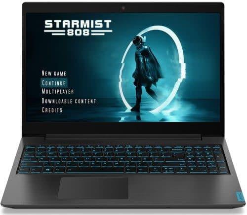 """O Notebook Gamer Lenovo Ideapad L340 81TR0001BR possui processador Intel Core i7 (9750H - 9ª Geração) de 2.6 GHz a 4.5 GHz e 12MB cache, 8 GB de memória RAM (DDR4 2666 MHz - expansível até 16 GB), HD de 1 TB (5.400 RPM), Tela IPS Full HD de 15,6"""" antirreflexiva e resolução máxima de 1920 x 1080, Placa de Vídeo integrada Intel UHD Graphics 630 e NVIDIA Geforce GTX 1050 com 3GB de memória dedicada (GDDR5), Conexões USB e HDMI, Wi-Fi 802.11 b/g/n/ac, Webcam (720p), Não possui Drive de DVD, Bateria de 3 células (45 Wh), Teclado retroiluminado azul (padrão ABNT), Peso aproximado de 2,19kg e Windows 10 64 bits."""