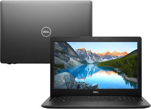 """O Notebook Dell Inspiron i15-3583-A2XP possui processador Intel Core i5 (8265U) de 1.6 GHz a 3.9 GHz e 6MB cache, 4GB de memória RAM (DDR4 2666MHz - velocidade máxima de 2400MHz dehttps://melhoresnotebooks.com.br/dell-inspiron-i15-3583-a2xp/ vido ao barramento do processador- 2 slots expansível até 32GB), HD de 1TB (5.400 RPM), Tela LED HD de 15,6"""" antirreflexiva e resolução máxima de 1366 x 768, Placa de Vídeo integrada Intel UHD Graphics 620, Conexões USB e HDMI, Wi-Fi 802.11 b/g/n/ac, Webcam (720p), Não possui Drive de DVD, Bateria de 3 células (42Wh), Peso aproximado de 2,03kg e Windows 10 64 bits."""