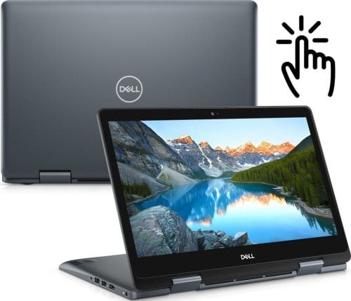 """O Notebook 2 em 1 Dell Inspiron i14-5481-M11 possui processador Intel Core i3 (8145U) de 2.1 GHz a 3.9 GHz e 4 MB cache, 4GB de memória RAM (DDR4 2666 MHz mas com velocidade máxima de 2400 MHz devido ao barramento do processador), SSD 128GB (M.2), Tela LED HD Touch de 14"""" com resolução máxima de 1366 x 768, Placa de Vídeo integrada Intel UHD Graphics 620, Conexões USB e HDMI, Wi-Fi 802.11 b/g/n/ac, Não possui Drive de DVD, Bateria de 3 células (42Wh), Peso aproximado de 1,92g e Sistema Operacional Windows 10 64 bits."""