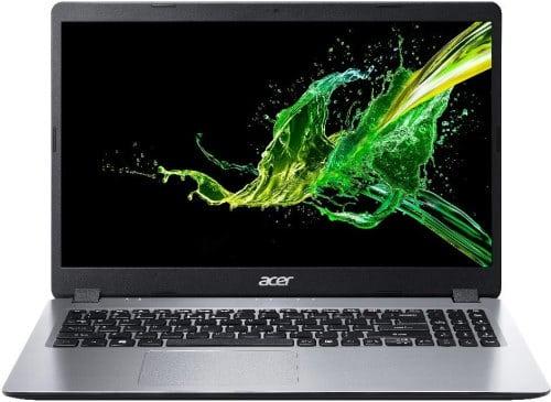 """O Notebook Acer Aspire 3 A315-54-58H0 NX.HU3AL.001 possui processador Intel Core i5 (1021U - 10ª geração) de 1.6 GHz a 4.2 GHz e 6MB cache, 4GB de memória RAM (DDR4 até 2400 MHz - expansível até 20GB, sendo 1slot disponível e 1 pente soldado), HD de 1TB (5.400 RPM), Tela LED HD de 15,6"""" antirreflexiva com resolução máxima de 1366 x 768, Placa de Vídeo integrada Intel UHD Graphics, Conexões USB e HDMI, Wi-Fi 802.11 b/g/n/ac, Não possui Drive de DVD, Bateria de 3 células (37WH), Peso aproximado de 1,9kg e Sistema Operacional Windows 10 64 bits."""