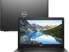 """O Notebook Dell Inspiron i15-3583-M4XP possui processador Intel Core i5 (8265U) de 1.6 GHz a 3.9 GHz e 6MB cache, 8GB de memória RAM (DDR4 2666MHz - velocidade máxima de 2400MHz devido ao barramento do processador), SSD de 256GB (M.2), Tela LED HD de 15,6"""" antirreflexiva e resolução máxima de 1366 x 768, Placa de Vídeo integrada Intel UHD Graphics 620, Conexões USB e HDMI, Wi-Fi 802.11 b/g/n/ac, Webcam (720p), Não possui Drive de DVD, Bateria de 3 células (42Wh), Peso aproximado de 2,03kg e Sistema Operacional Windows 10 de 64 bits."""