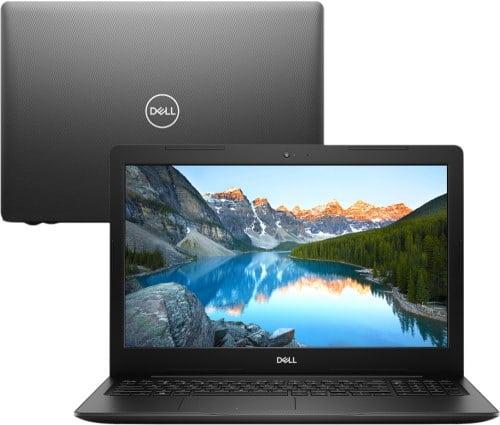 """O Notebook Dell Inspiron I15-3584-A10P possui processador Intel Core i3 (7020U) de 2.3 GHz e 3 MB cache, 4GB de memória RAM (DDR4 2666 MHz mas com velocidade máxima de 2666 MHz devido ao barramento do processador - expansível até 16GB em 1 slots total), HD de 1 TB (5.400 RPM), Tela LED HD de 15,6"""" antirreflexiva com resolução máxima de 1366 x 768, Placa de Vídeo integrada Intel HD Graphics 620, Conexões USB e HDMI, Wi-Fi 802.11 b/g/n/ac, Não possui Drive de DVD, Bateria de 3 células(42Wh), Peso aproximado de 2,01kg e Sistema Operacional Windows 10 64 bits."""