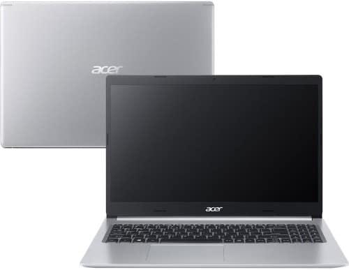 """O Notebook Acer Aspire 5 A515-54G-56SB NX.HQPAL.00A possui processador Intel Core i5 (10210U - 10ª Geração) de 1.6 GHz a 4.2 GHz e 6 MB cache, 8GB de memória RAM (DDR4 - 4Gb soldada e 4GB módulo - expansível até 20GB), SSD de 128GB e HD de 1 TB (5400 RPM) e 1 slot m.2 2280 livre, Tela LED HD de 15,6"""" antirreflexiva com resolução máxima de 1366 x 768, Placa de Vídeo integrada Intel UHD Graphics e NVIDIA Geforce MX250 com 2GB de memória dedicada (GDDR5), Conexões USB e HDMI, Wi-Fi 802.11 b/g/n/ac, Não possui Drive de DVD, Bateria de 4 células (48Wh - 3220mAh), Peso aproximado de 1,8kg e Sistema Operacional Windows 10 64 bits."""