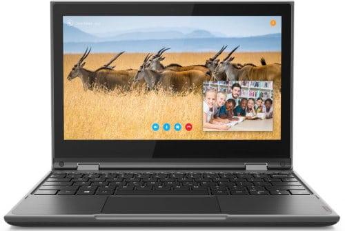 """O Notebook Lenovo 300e 81M90042BR possui processador Intel Celeron (N4100) de 1.1 GHz a 2.4 GHz e 4 MB cache, 4GB de memória RAM (DDR4 2400 MHz - 4GB soldado), 64 GB EMMC TLC, Tela WVA HD de 11,6"""" antirreflexiva MultiTouch com resolução máxima de 1366 x 768, Placa de Vídeo integrada Intel UHD Graphics 600, Conexões USB e HDMI, Wi-Fi 802.11 b/g/n/ac, Não possui Drive de DVD, Webcam (720p), Bateria de 3 células(42Wh), Peso aproximado de 1,31kg e Sistema Operacional Windows 10 64 bits."""