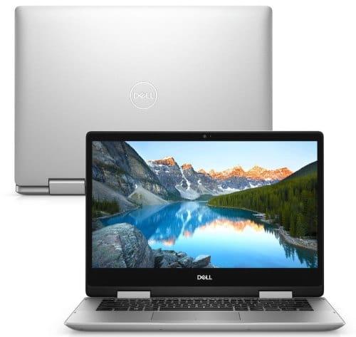 """O Notebook 2 em 1 Dell Inspiron i14-5491-A30S possui processador Intel Core i7 (10510U) de 1.80 GHz a 4.90 GHz e 8 MB cache, memória de 8 GB DDR4, SSD de 256GB, Tela 14"""" polegadas touch Full HD IPS e iluminação traseira por LED Placa de Vídeo NVIDIA® GeForce® MX230 com 2GB de GDDR5, Conexões USB e HDMI, placa de rede wireless, bluetooth v5.0, Não possui Drive de DVD, Bateria de 3 células, Peso aproximado de 1,74Kg e Sistema Operacional Windows® 10 Home de 64 bits."""