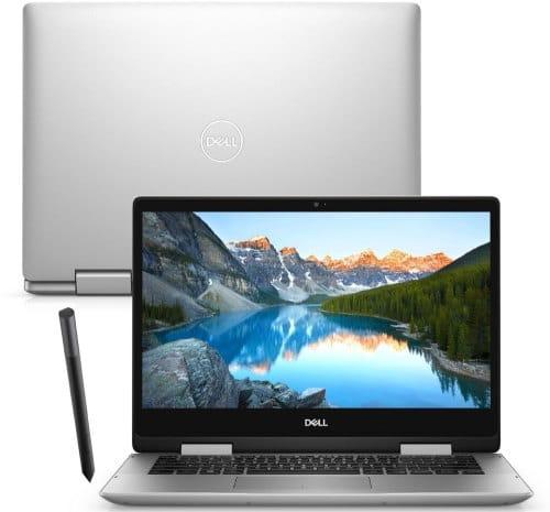 """O Notebook 2 em 1 Dell Inspiron i14-5491-M20S possui processador Intel Core i5 (10210U) de 1.60 GHz a 4.20 GHz e 6 MB cache, memória de 8 GB DDR4, SSD de 256GB, Tela 14"""" polegadas touch Full HD IPS e iluminação traseira por LED Placa de Vídeo NVIDIA® GeForce® MX230 com 2GB de GDDR5, Conexões USB e HDMI, placa de rede wireless, bluetooth v5.0, Não possui Drive de DVD, Bateria de 3 células, Peso aproximado de 1,74Kg e Sistema Operacional Windows® 10 Home de 64 bits."""