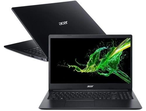 """O Notebook Acer Aspire 3 A315-34-C5EY possui processador Intel Celeron N4000 de 1.10 GHz a 2.60 GHz e 4 MB cache, memória de 4 GB DDR4, HD de 500GB, Tela 15,6"""" polegadas HD (1366x768 pixels) Ultra Slim e Anti reflexivo, 60 Hz, 8~11ms, TN (twisted nematic), Placa de Vídeo Gráficos UHD Intel® 600, Conexões USB e HDMI, placa de rede wireless, bluetooth v4.2, Não possui Drive de DVD, Bateria de 3 células, Peso aproximado de 1,90Kg e Sistema Operacional Windows® 10 Home de 64 bits."""