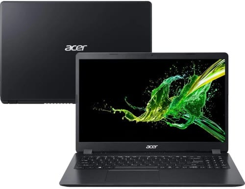 """O Notebook Acer Aspire 3 A315-42-R1B0 possui processador AMD Ryzen 5 (3500U) de 2.10 GHz a 3.70 GHz e 4 MB cache, memória de 12 GB DDR4, HD de 1TB, Tela 15,6"""" polegadas LED LCD Ultra fino HD (1366x768 pixels) Anti reflexo, com Frame rate de 60 Hz e Tempo de resposta: 8 ~ 11msTN (twisted nematic), Placa de Vídeo Radeon™ Vega 8 Graphics, Conexões USB e HDMI, placa de rede wireless, bluetooth v4.2, Não possui Drive de DVD, Bateria de 3 células, Peso aproximado de 1,90Kg e Sistema Operacional Windows® 10 Home de 64 bits."""