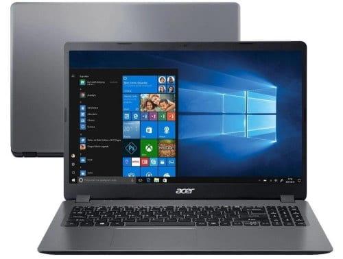 """O Notebook Acer Aspire 3 A315-56-3090 possui processador Intel Core i3 (1005G1) de 1.2 GHz a 3.40 GHz e 4 MB cache, memória de 8 GB DDR4, SSD de 256GB, Tela 15,6"""" polegadas LED LCD com design ultrafino, HD (1366x768 pixels) 16:9, Anti reflexo, 60 Hz, 8 ~ 11ms, Placa de Vídeo Intel® UHD Graphics com memória compartilhada com a memória RAM, Conexões USB e HDMI, placa de rede wireless, bluetooth v4.2, Não possui Drive de DVD, Bateria de 3 células, Peso aproximado de 1,90kg e Sistema Operacional Windows® 10 Home de 64 bits."""