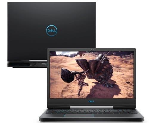 """O Notebook Gamer Dell G5 15-5590-A80P possui processador Intel Core (i7-9750H) de 2.60 GHz a 4.60 GHz e 12 MB cache, memória de 16 GB DDR4, SSD de 512GB, Tela 15,6"""" polegadas LED Full HD IPS de  (1920 x 1080 pixels), 144hZ, 300 nits, antirreflexo, retroiluminado e borda fina Placa de Vídeo Gráficos UHD Intel® 630, NVIDIA® GeForce® RTX™ 2060 com 6GB de GDDR6, Conexões USB e HDMI, placa de rede wireless, bluetooth v4.1, Não possui Drive de DVD, Bateria de 4 células, Peso aproximado de 2,84Kg e Sistema Operacional Windows® 10 Home de 64 bits."""
