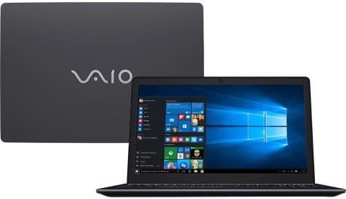 """O Notebook VAIO Fit 15S VJF155F11X-B0331B possui processador Intel Core i7 (7500U) de 2.70 GHz a 3.50 GHz e 4 MB cache, memória de 8 GB DDR3L, HD de 1TB, Tela 15,6"""" polegadas LCD, Widescreen, resolução 1366 x 768 pixels de Alta Definição (HD), com tecnologia LED, Placa de Vídeo Gráficos HD Intel® 620, Conexões USB e HDMI, placa de rede wireless, bluetooth v4.2, Não possui Drive de DVD, Bateria de 4 células, Peso aproximado de 2,10Kg e Sistema Operacional Windows® 10 Home de 64 bits."""