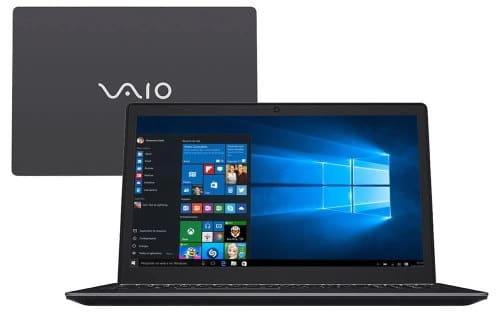 """O Notebook VAIO Fit 15S VJF155F11X-B0211B possui processador Intel Core i5 (7200U) de 2.50 GHz a 3.10 GHz e 3 MB cache, memória de 8 GB DDR3L, HD de 1TB, Tela 15,6"""" polegadas LCD, Widescreen, resolução 1366 x 768 pixels de Alta Definição (HD), com tecnologia LED, Placa de Vídeo Gráficos HD Intel® 620, Conexões USB e HDMI, placa de rede wireless, bluetooth v4.2, Não possui Drive de DVD, Bateria de 4 células, Peso aproximado de 2,10Kg e Sistema Operacional Windows® 10 Home de 64 bits."""