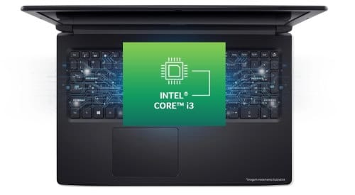 """O Notebook Acer Aspire 3 A315-53-343Y-SSD possui processador Intel Core i3 (7020U) de 2.30 GHz a  GHz e 3 MB cache, memória de 4 GB DDR4, SSD de 120GB + HD de 1TB, Tela 15,6"""" polegadas LED LCD, HD (1366x768 pixels), 60 Hz, 8 ~ 11ms, Placa de Vídeo Gráficos HD Intel® 620, Conexões USB e HDMI, placa de rede wireless, bluetooth v4.1, Não possui Drive de DVD, Bateria de 3 células, Peso aproximado de 2,1Kg e Sistema Operacional Windows® 10 Home de 64 bits."""