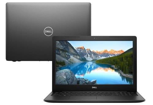 """O Notebook Dell Inspiron i15-3583-AS100P possui processador Intel Core i7 (8550U) de 1.80 GHz a 4.00 GHz e 8 MB cache, memória de 8 GB DDR4, SSD de 256GB, Tela 15,6"""" polegadas Full HD WVA (1920 x 1080 pixels), retroiluminada por LED, borda fina e com antirreflexo, Placa de Vídeo AMD® Radeon® 520 com 2GB de GDDR5, Conexões USB e HDMI, placa de rede wireless, bluetooth v5.0, Não possui Drive de DVD, Bateria de 3 células, Peso aproximado de 2,03Kg e Sistema Operacional Windows® 10 Home de 64 bits."""