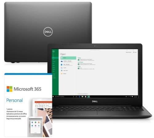 """O Notebook Dell Inspiron i15-3583-M3XF possui processador Intel Core i5 (8265U) de 1.60 GHz a 3.90 GHz e 6 MB cache, memória de 8 GB DDR4, HD de 1TB, Tela 15,6"""" polegadas HD (1366 x 768 pixels), antirreflexo e retroiluminação por LED, Placa de Vídeo Intel® UHD Graphics 610, Conexões USB e HDMI, placa de rede wireless, bluetooth v4.1, Não possui Drive de DVD, Bateria de 3 células, Peso aproximado de 2,03Kg e Sistema Operacional Windows® 10 Home de 64 bits."""