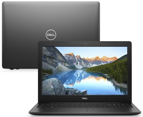 """O Notebook Dell Inspiron i15-3583-MFS1P possui processador Intel Core i5 (8265U) de 1.60 GHz a 3.90 GHz e 6 MB cache, memória de 8 GB DDR4, SSD de 256GB, Tela 15,6"""" polegadas HD (1366 x 768 pixels), antirreflexo e retroiluminação por LED, Placa de Vídeo Intel® UHD Graphics 610, Conexões USB e HDMI, placa de rede wireless, bluetooth v4.1, Não possui Drive de DVD, Bateria de 3 células, Peso aproximado de 2,03Kg e Sistema Operacional Windows® 10 Home de 64 bits."""