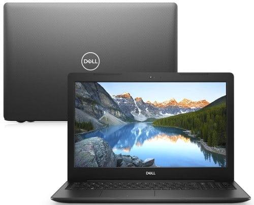 """O Notebook Dell Inspiron i15-3583-MS110P possui processador Intel Core i7 (8565U) de 1.80 GHz a 4.60 GHz e 8 MB cache, memória de 8 GB DDR4, SSD de 256GB, Tela 15,6"""" polegadas HD (1366 x 768 pixels), antirreflexo e retroiluminação por LED, Placa de Vídeo AMD® Radeon® 520 com 2GB de GDDR5, Conexões USB e HDMI, placa de rede wireless, bluetooth v4.1, Não possui Drive de DVD, Bateria de 3 células, Peso aproximado de 2,03Kg e Sistema Operacional Windows® 10 Home de 64 bits."""
