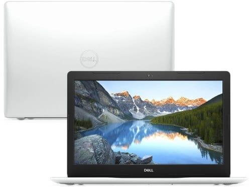 """O Notebook Dell Inspiron i15-3583-MS90B possui processador Intel Core i7 (8565U) de 1.80 GHz a 4.60 GHz e 8 MB cache, memória de 8 GB DDR4, SSD de 256GB, Tela 15,6"""" polegadas HD (1366 x 768 pixels), antirreflexo e retroiluminação por LED, Placa de Vídeo Intel® UHD Graphics 620, Conexões USB e HDMI, placa de rede wireless, bluetooth v4.1, Não possui Drive de DVD, Bateria de 3 células, Peso aproximado de 2,03Kg e Sistema Operacional Windows® 10 Home de 64 bits"""