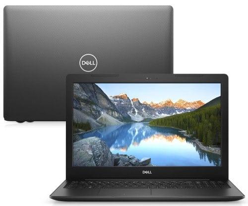 """O Notebook Dell Inspiron i15-3583-US90P possui processador Intel Core i7 (8565U) de 1.80 GHz a 4.60 GHz e 8 MB cache, memória de 8 GB DDR4, SSD de 256GB, Tela 15,6"""" polegadas HD (1366 x 768 pixels), antirreflexo e retroiluminação por LED, Placa de Vídeo Intel® UHD Graphics 620, Conexões USB e HDMI, placa de rede wireless, bluetooth v4.1, Não possui Drive de DVD, Bateria de 3 células, Peso aproximado de 2,03Kg e Sistema Operacional Ubuntu Linux® de 64 bits."""