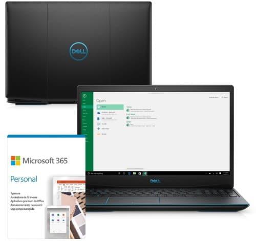 """O Notebook Gamer Dell G3 3500-M20PF possui processador Intel Core i5 (10300H) de 2.50 GHz a 4.50 GHz e 8 MB cache, memória de 8 GB DDR4, SSD de 512GB, Tela 15,6"""" polegadas Full HD WVA (1920 x 1080 pixels), 120Hz, 250 nits, antirreflexo, retroiluminado e borda fina, Placa de Vídeo NVIDIA® GeForce™ GTX 1650 Ti com 4GB de GDDR6, Conexões USB e HDMI, placa de rede wireless, bluetooth v5.0, Não possui Drive de DVD, Bateria de 3 células, Peso aproximado de 2,34Kg e Sistema Operacional Windows® 10 Home de 64 bits."""