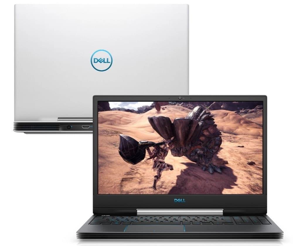 """O Notebook Gamer Dell G5 5590-A70B possui processador Intel Core i7 (9750H) de 2.60 GHz a 4.60 GHz e 12 MB cache, memória de 16 GB DDR4, SSD de 512GB, Tela 15,6"""" polegadas Full HD IPS (1920 x 1080 pixels) 60hZ, 300 nits, antirreflexo, retroiluminado e borda fina, Placa de Vídeo NVIDIA® GeForce™ GTX 1660 Ti com 6GB de GDDR6, Conexões USB e HDMI, placa de rede wireless, bluetooth v4.1, Não possui Drive de DVD, Bateria de 4 células, Peso aproximado de 2,84Kg e Sistema Operacional Windows® 10 Home de 64 bits."""