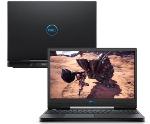 """O Notebook Gamer Dell G5 5590-A70P possui processador Intel Core i7 (9750H) de 2.60 GHz a 4.60 GHz e 12 MB cache, memória de 16 GB DDR4, SSD de 512GB, Tela 15,6"""" polegadas Full HD IPS (1920 x 1080 pixels) 60hZ, 300 nits, antirreflexo, retroiluminado e borda fina, Placa de Vídeo NVIDIA® GeForce™ GTX 1660 Ti com 6GB de GDDR6, Conexões USB e HDMI, placa de rede wireless, bluetooth v4.1, Não possui Drive de DVD, Bateria de 4 células, Peso aproximado de 2,84Kg e Sistema Operacional Windows® 10 Home de 64 bits."""