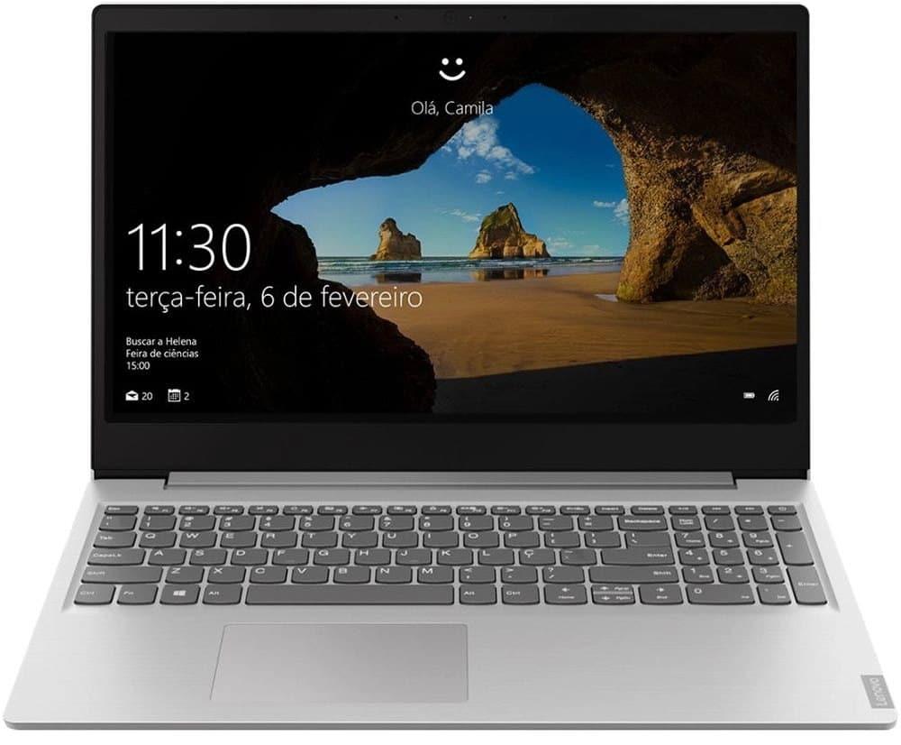 """O Notebook Lenovo IdeaPad S145 81S9000PBR possui processador Intel Core i5 (8265U) de 1.60 GHz a 3.90 GHz e 6 MB cache, memória de 8 GB DDR4, HD de 1TB, Tela 15.6"""" polegadas HD (1366x768 pixels) Antirreflexo, Placa de Vídeo NVIDIA® GeForce® MX110 Graphics com 2GB GDDR5 de Memória Gráfica, Conexões USB e HDMI, placa de rede wireless, bluetooth v4.2, Não possui Drive de DVD, Bateria de 2 células, Peso aproximado de 1,85Kg e Sistema Operacional Windows® 10 Home de 64 bits."""