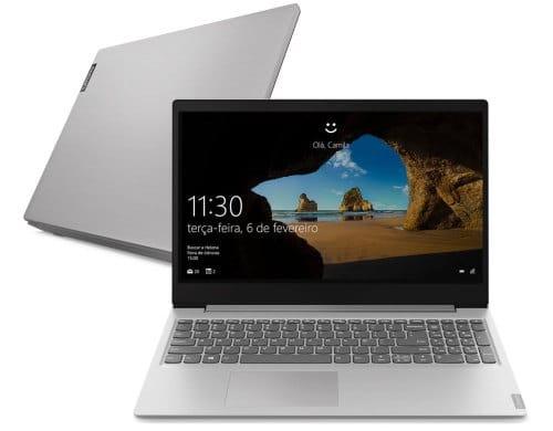 """O Notebook Lenovo IdeaPad S145 81S9000SBR possui processador Intel Core i7 (8565U) de 1.80 GHz a 4.60 GHz e 8 MB cache, memória de 12 GB DDR4, SSD de 256GB, Tela 15.6"""" polegadas Full HD (1920x1080 pixels) Antirreflexo, Placa de Vídeo NVIDIA® GeForce® MX110 Graphics com 2GB GDDR5 de Memória Gráfica, Conexões USB e HDMI, placa de rede wireless, bluetooth v4.2, Não possui Drive de DVD, Bateria de 2 células, Peso aproximado de 1,85Kg e Sistema Operacional Windows® 10 Home de 64 bits."""