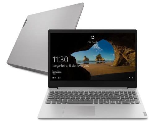 """O Notebook Lenovo IdeaPad S145 82DJ0009BR possui processador Intel Core i5 (1035G1) de 1.00 GHz a 3.60 GHz e 6 MB cache, memória de 8 GB DDR4, SSD de 256GB, Tela 15.6"""" polegadas HD (1366x768 pixels) Antirreflexo, Placa de Vídeo Intel® UHD Graphics integrada, Conexões USB e HDMI, placa de rede wireless, bluetooth v5.0, Não possui Drive de DVD, Bateria de 2 células, Peso aproximado de 1,85Kg e Sistema Operacional Windows® 10 Home de 64 bits."""