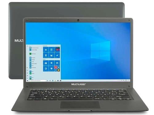 """O Notebook Multilaser Legacy Cloud PC130 possui processador Intel Atom x5 (Z8350) de 1.44 GHz a 1.92 GHz e 2 MB cache, memória de 2 GB LPDDR3, Flash de 32GB eMMC, Tela 14"""" polegadas LCD Widescreen HD (1366 x 768 pixels) de Alta Definição, com tecnologia LED, Placa de Vídeo HD Graphics (Cherry Trail), Conexões USB e HDMI, placa de rede wireless, bluetooth v4.0, Não possui Drive de DVD, Bateria de 2 células, Peso aproximado de 1,31Kg e Sistema Operacional Windows® 10 Home de 64 bits."""