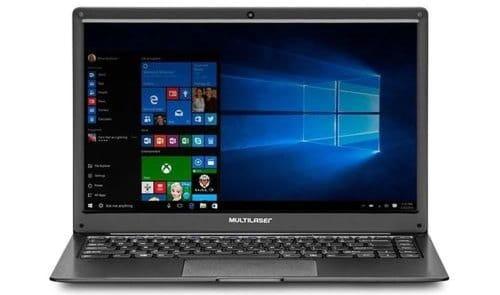"""O Notebook Multilaser Legacy Cloud PC150 possui processador AMD A4 (9120e) de 1.50 GHz a 2.20 GHz e 1 MB cache, memória de 2 GB LPDDR3, Flash de 32GB eMMC, Tela 14"""" polegadas LCD Widescreen HD (1366 x 768 pixels) de Alta Definição, com tecnologia LED, Placa de Vídeo AMD® Radeon® R3 Series, Conexões USB e HDMI, placa de rede wireless, bluetooth v4.0, Não possui Drive de DVD, Bateria de 2 células, Peso aproximado de 1,31Kg e Sistema Operacional Windows® 10 Home de 64 bits."""