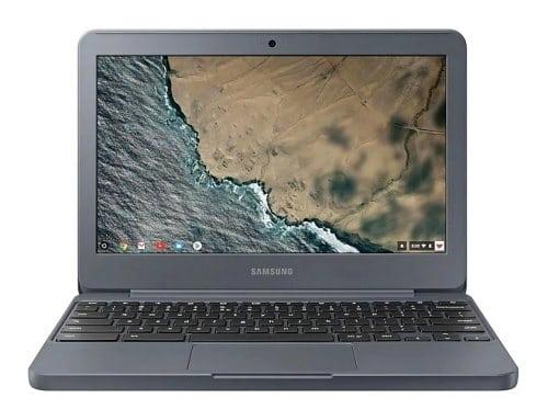 """O Notebook Samsung Chromebook XE501C13-AD3BR possui processador Intel Celeron (N3060) de 1.60 GHz a 2.48 GHz e 2 MB cache, memória de 4 GB LPDDR3, eMMC de 32 GB, Tela 11.6"""" polegadas LED HD (1366 x 768 pixels) antirreflexos, Placa de Vídeo Intel® HD Graphics 400, Conexões USB e HDMI, placa de rede wireless, bluetooth v4.0, Não possui Drive de DVD, Bateria de 2 células, Peso aproximado de 1,18Kg e Sistema Operacional Chrome® OS de 64 bits."""